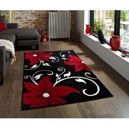Koberec Verona Black and Red 60x120 cm