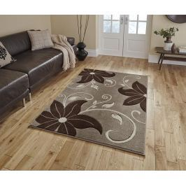 Koberec Verona Flower Beige and Brown 60x225 cm