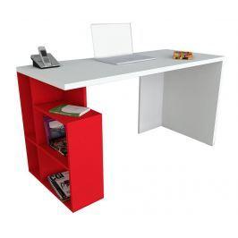 Pracovní stůl Rupert White Red