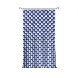 Závěs Squares Blue 140x270 cm
