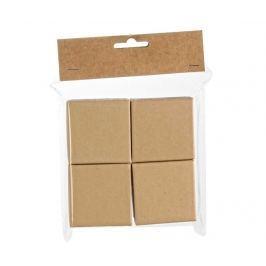 Sada 4 krabic s víkem na malování Squares