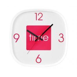 Nástěnné hodiny Arco Hot Pink