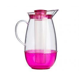 Džbán s chladivým prvkem Clear Pink 2.5 L