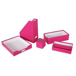 Sada na organizovaní kancelářských potřeb, 5 dílů Opaco Pink