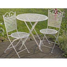 Sada venkovní stůl a 2 skládací židle Queenie