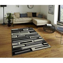 Koberec Collision Black Grey 120x170 cm Moderní