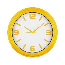 Nástěnné hodiny Abbey Yellow