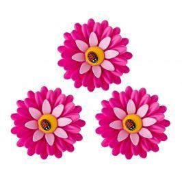 Sada 3 magnetek Flower Power Pink