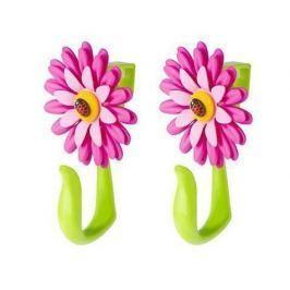 Sada 2 věšáků na dveře Flower Power Hook Pink