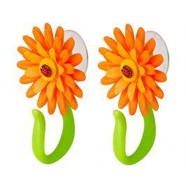 Sada 2 věšáků Flower Power Hook Orange Předsíň & obývák