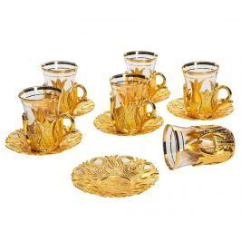 Čajová souprava, 12 dílů Galip Golden
