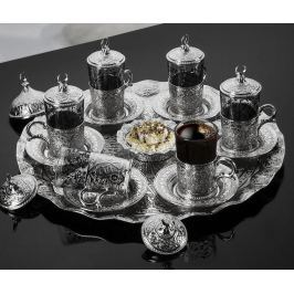 Čajová souprava, 21 dílů Cala Silver Servírování čaje & kávy