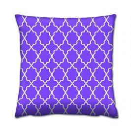 Dekorační polštář Purple Waves 43x43 cm