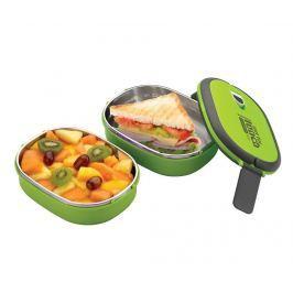 Sada 2 dóz na potraviny a víko Pioneer Rectangular Green Dózy na potraviny & nádoby
