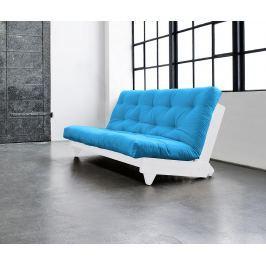 Rozkládací pohovka Fresh White & Horizon Blue 140x200 cm Pohovky
