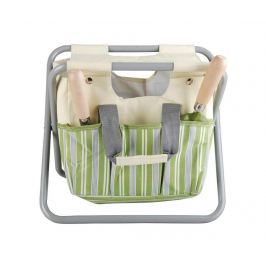 Skládací židlička s držákem na nářadí Stripes