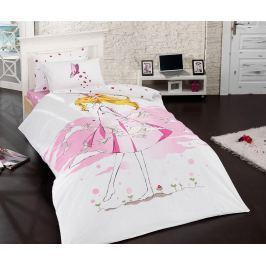 Ložní povlečení Single Ranforce Anime Girl Pink