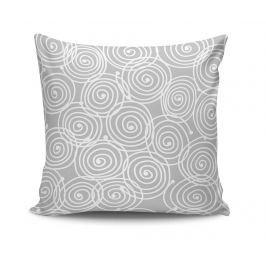 Dekorační polštář Cercles Grey 45x45 cm Dekorační polštáře