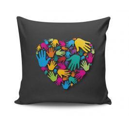 Dekorační polštář The Heart Touch 45x45 cm Dekorační polštáře