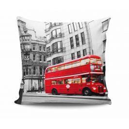 Dekorační polštář London Red Bus 45x45 cm Dekorační polštáře