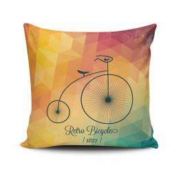 Dekorační polštář Retro Bicycle 45x45 cm Dekorační polštáře