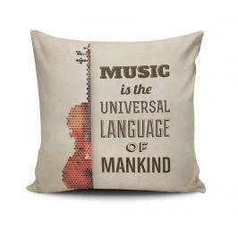 Dekorační polštář Universal Music 45x45 cm Dekorační polštáře