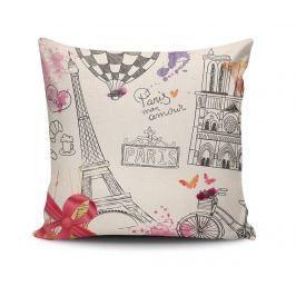 Dekorační polštář Paris Mon Amour 45x45 cm Dekorační polštáře