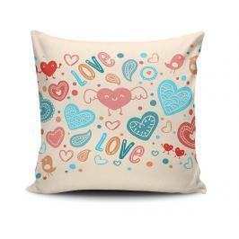 Dekorační polštář Angelic Hearts 45x45 cm Dekorační polštáře