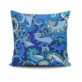 Dekorační polštář Curly Blue Elements 45x45 cm Dekorační polštáře