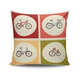 Dekorační polštář Retro Bicycles 45x45 cm Dekorační polštáře