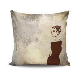 Dekorační polštář Retro Woman 45x45 cm Dekorační polštáře
