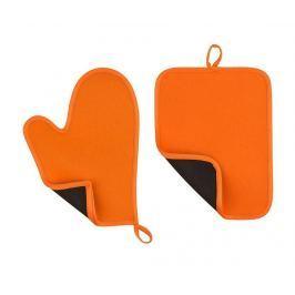 Sada chňapka a podložka pod horké nádoby Catch Orange Textilie pro stolování