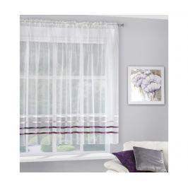 Záclona Gabi Evio Cream Purple 160x295 cm Záclony & závěsy