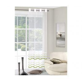 Záclona Gabi Stripes Green 140x250 cm Záclony & závěsy