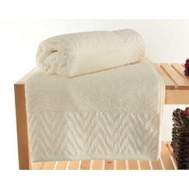Sada 2 ručníků Persephone Ecru 90x150 cm Koupelnové ručníky