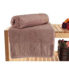 Sada 2 ručníků Pastel Paisley Dusty Rose 90x150 cm