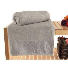 Sada 2 ručníků Pastel Paisley Grey 90x150 cm Koupelnové ručníky