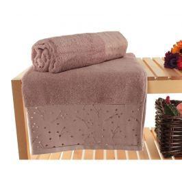Sada 2 ručníků Stardust Dusty Rose 90x150 cm