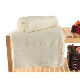 Sada 2 ručníků Stardust Ecru 90x150 cm Koupelnové ručníky