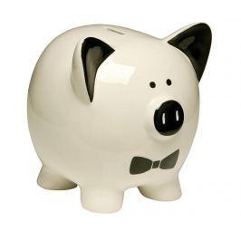 Pokladnička White Piggy Dekorační předměty