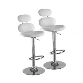 Sada 2 barových židlí Cetus White Barové židle