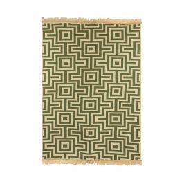 Kobereček Kare Green 80x150 cm Rohožky
