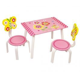 Sada dětský stůl a 2 židle Leonor