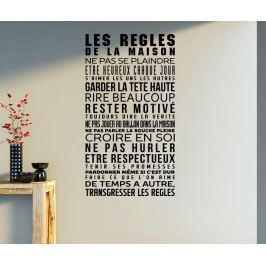 Nálepka Les regles de la maison