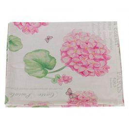 Středový ubrus Pink Hydrangea 40x140 cm