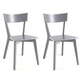 Sada 2 židlí Kyra Grey