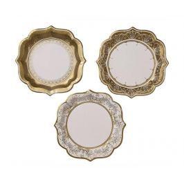 Sada 12 jednorázových talířů Gold Margin