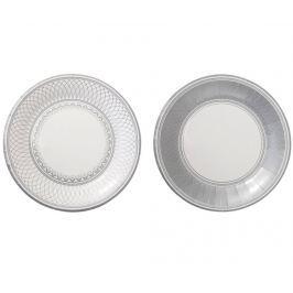 Sada 8 jednorázových talířů Fancy Silver