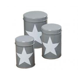 Sada 3 krabic s víkem Big Star Grey