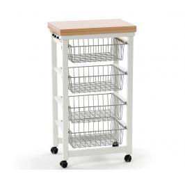 Rozkládací kuchyňský vozík Gastoncino Lacquered Off  White